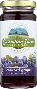 CASCADIAN FARMS: Concord Grape Fruit Spread, 10 oz