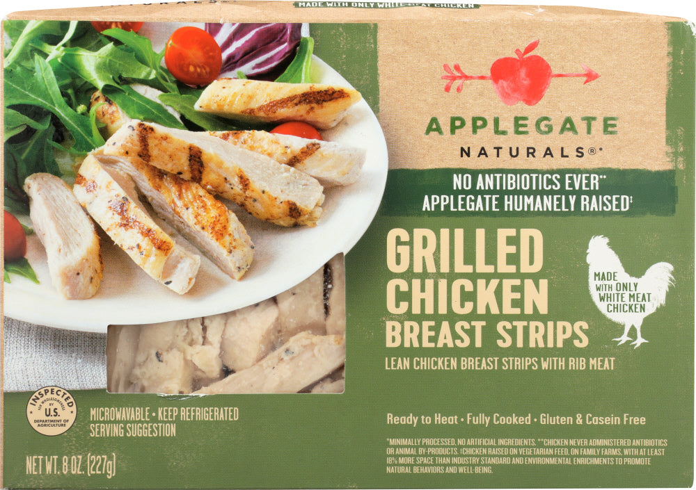APPLEGATE: Natural Grilled Chicken Breast Strips, 8 Oz