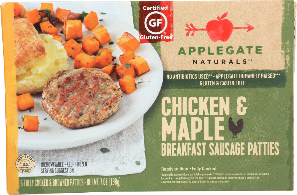 APPLEGATE: Naturals Chicken & Maple Breakfast Sausage Patty, 7 Oz