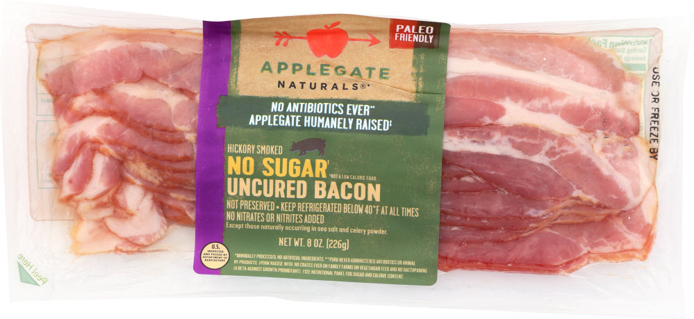 APPLEGATE: Bacon No Sugar, 8 oz