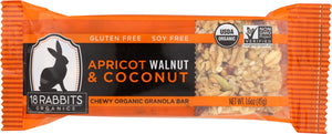 18 RABBITS: Organic Apricot Walnut Coconut Bar, 1.6 Oz