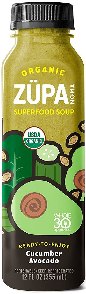 ZUPA NOMA: Organic Superfood Soup Cucumber Avocado, 12 oz
