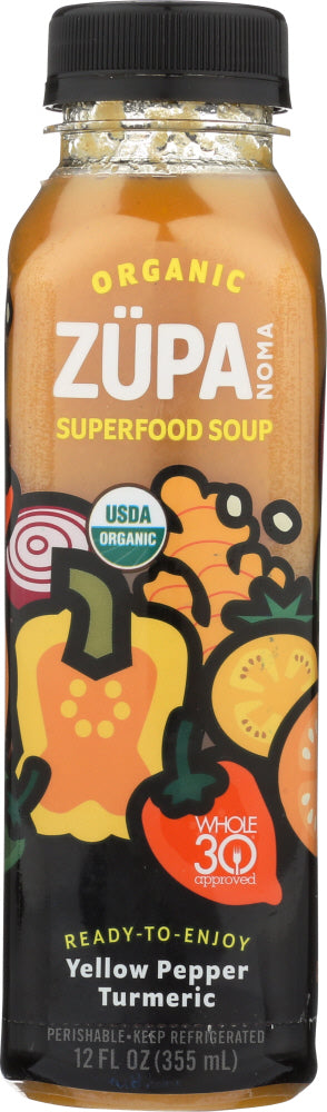ZUPA NOMA: Organic Superfood Soup Yellow Pepper Turmeric, 12 oz