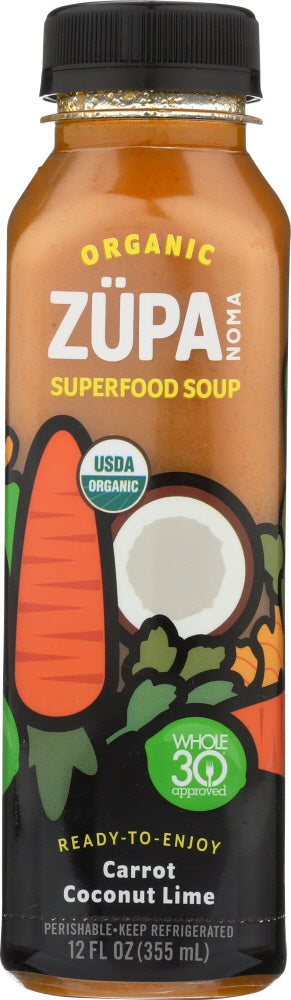 ZUPA NOMA: Organic Superfood Soup Carrot Coconut Lime, 12 oz