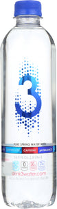 3 WATER: Caffeinated Electrolyte Water, 16.9 fl oz