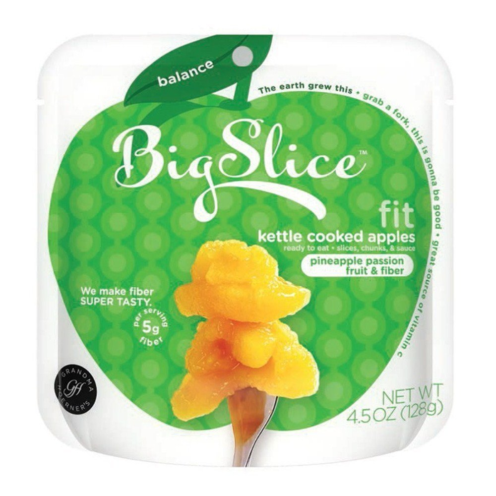 BIG SLICE: Fit Kettle Cooked Apples Pineapple Passion Fruit and Fiber, 4.5 oz