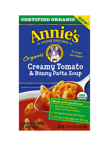 ANNIES HOMEGROWN: Soup Creamy Tomato Bunny Pasta, 14 oz