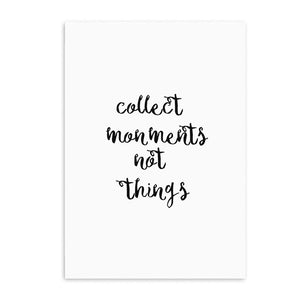 collect moments not things cotton canvas poster the scandique
