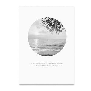 beach landscape poster cotton canvas the scandique