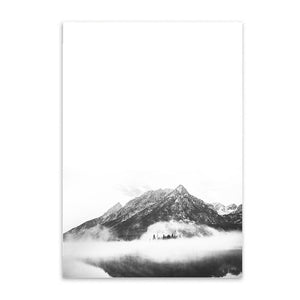mountain top cotton canvas poster the scandique