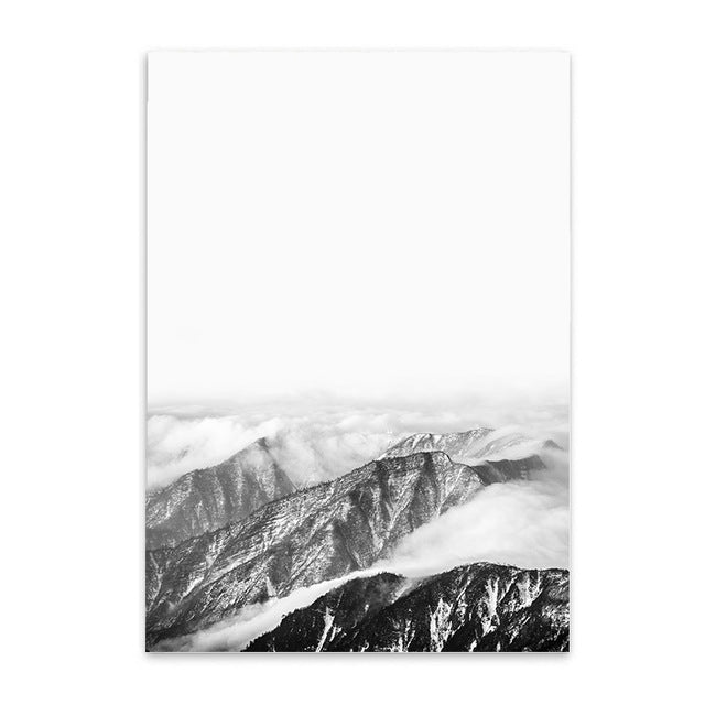 mountain view cotton canvas poster the scandique