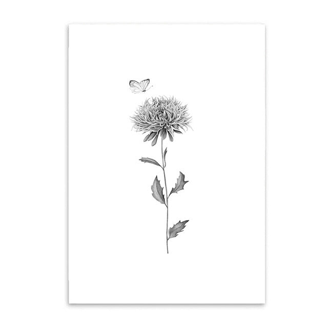 butterfly and thistle poster cotton canvas the scandique
