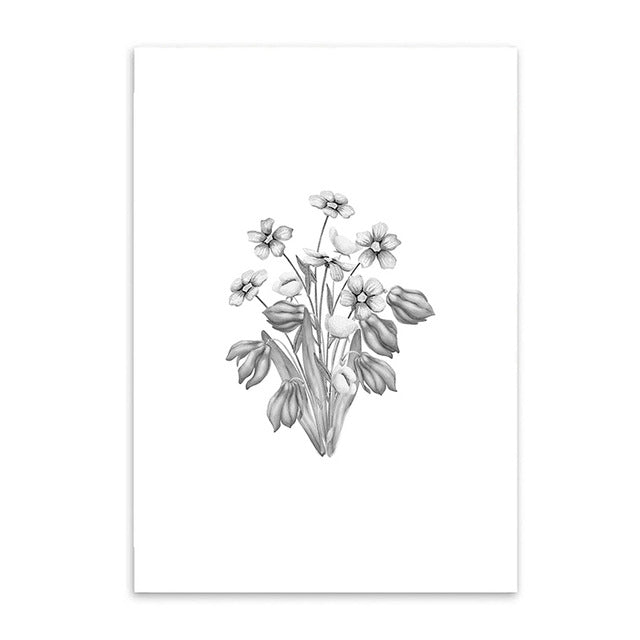 wild flowers cotton canvas poster the scandique