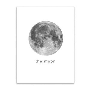 the moon cotton canvas poster the scandique