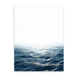 ocean view cotton canvas poster the scandique