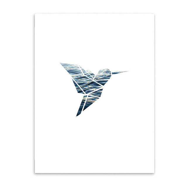 hummingbird cotton canvas poster the scandique