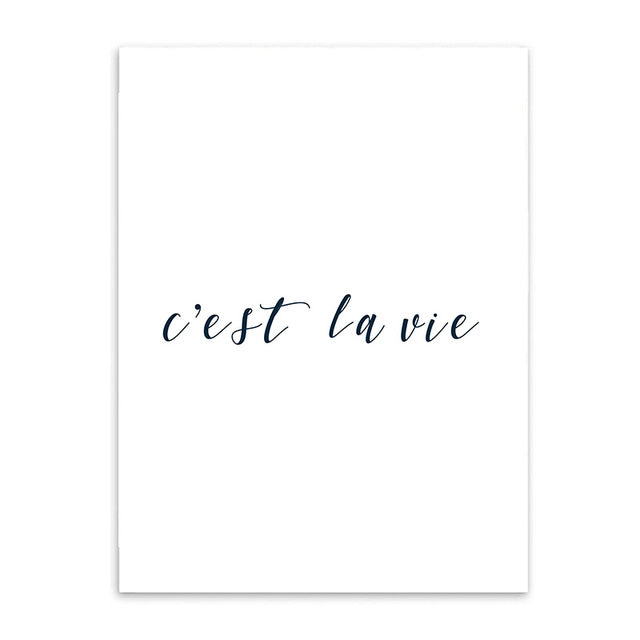 c'est la vie cotton canvas poster the scandique