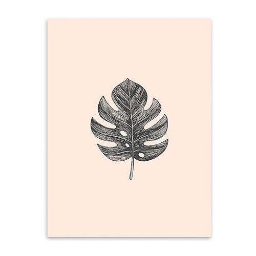 lime leaf cotton canvas poster the scandique