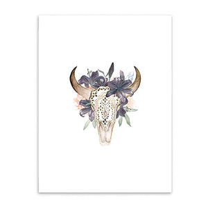 bull's head poster cotton canvas the scandique