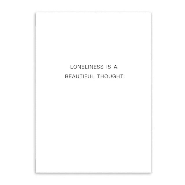 loneliness is a beautiful thought cotton canvas poster the scandique