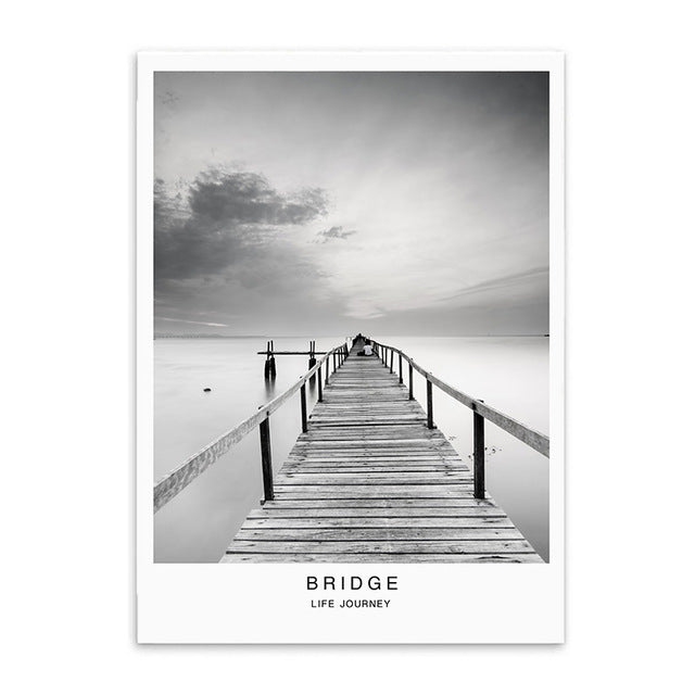 bridge poster cotton canvas the scandique