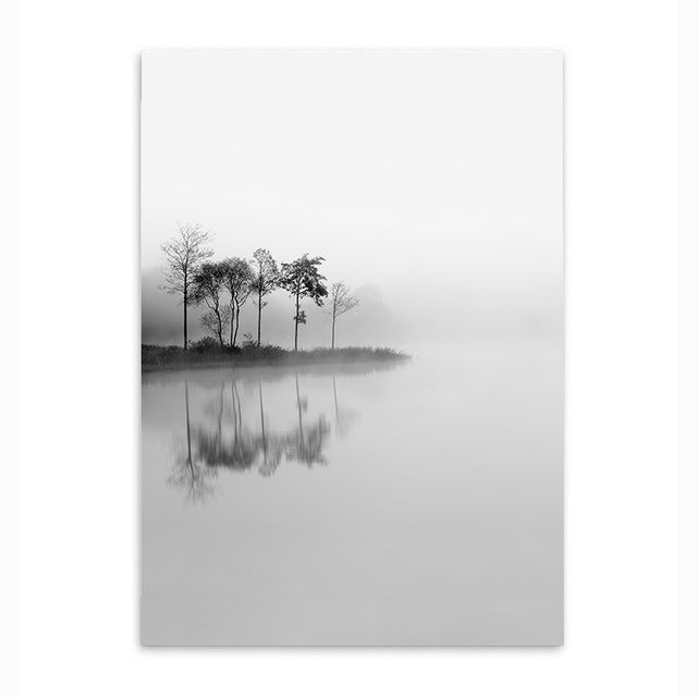 lonely trees cotton canvas poster the scandique