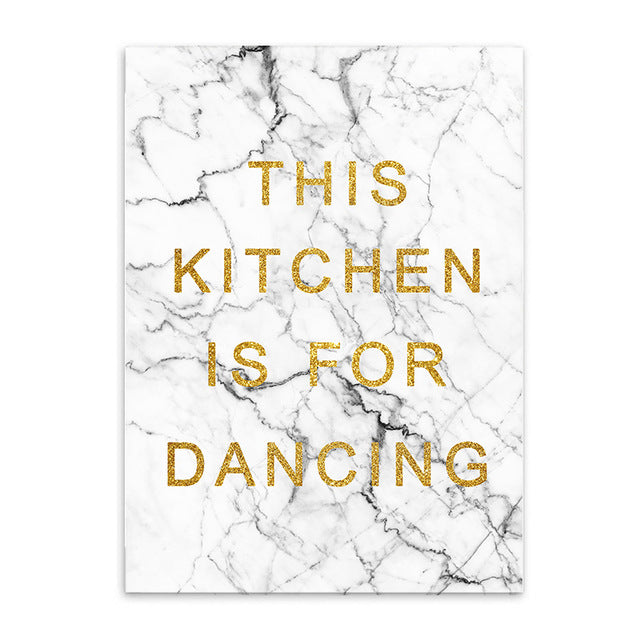 this kitchen is for dancing cotton canvas poster the scandique