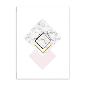 stacked diamonds cotton canvas poster the scandique