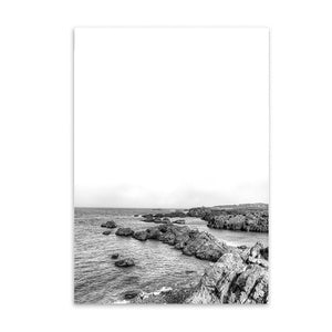 rocky beach cotton canvas poster the scandique