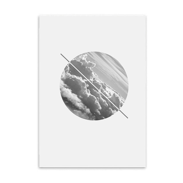diagonal horizon cotton canvas poster the scandique