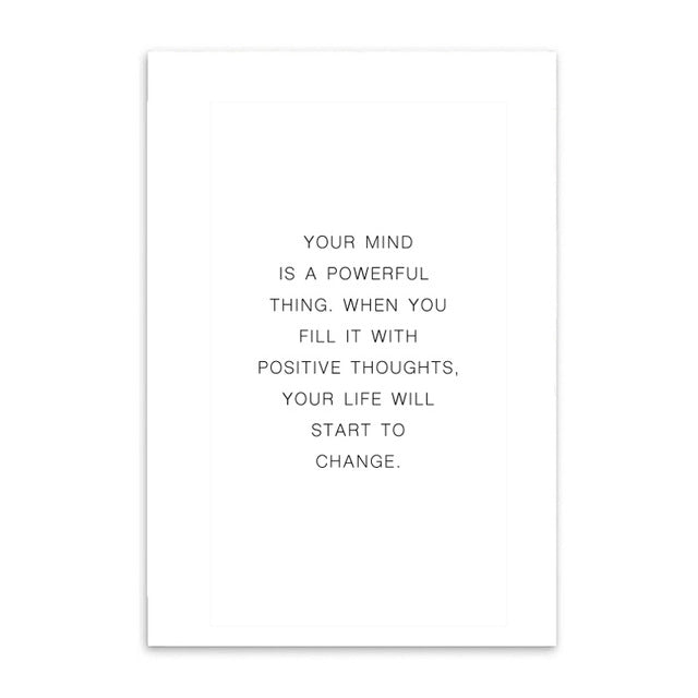 positive thinking cotton canvas poster the scandique