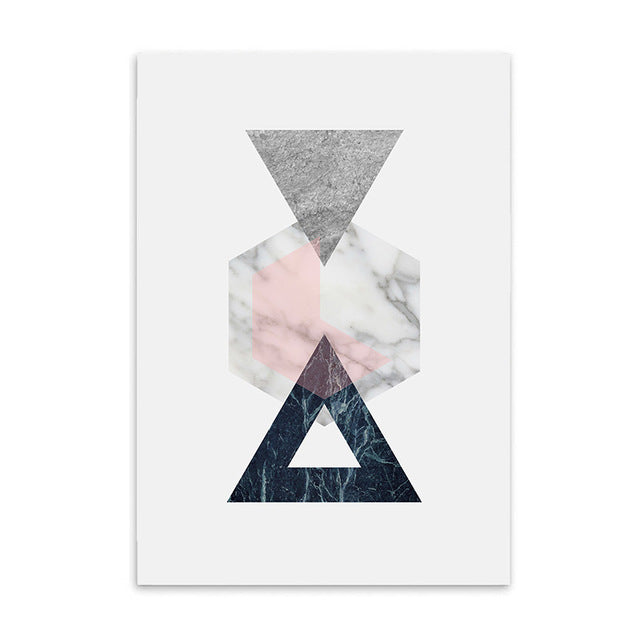 geometric design cotton canvas poster the scandique