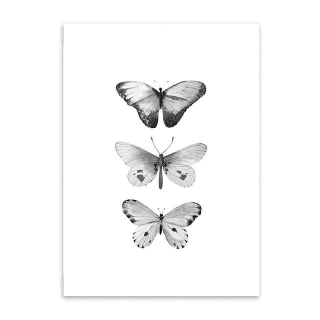 butterfly triple poster cotton canvas the scandique