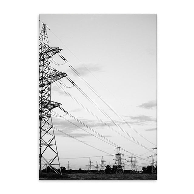 power lines cotton canvas poster the scandique