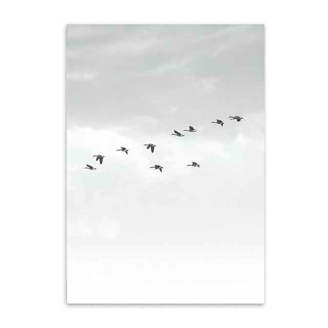 birds in the sky poster cotton canvas the scandique