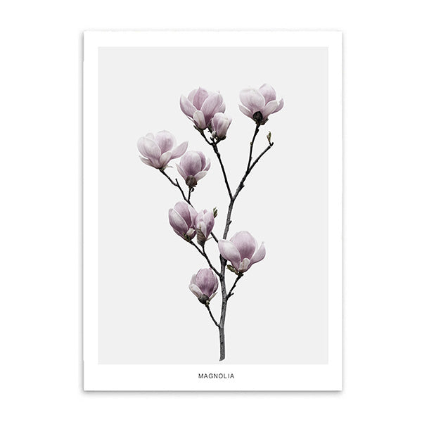 magnolia cotton canvas poster the scandique