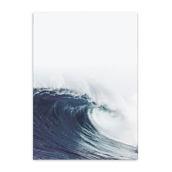 wave crest cotton canvas poster the scandique