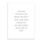 feelings are like waves cotton canvas poster the scandique