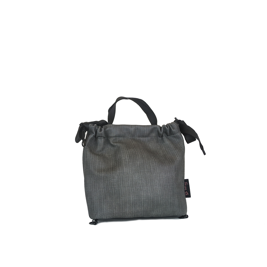 Yay bag eco skin canvas grey S