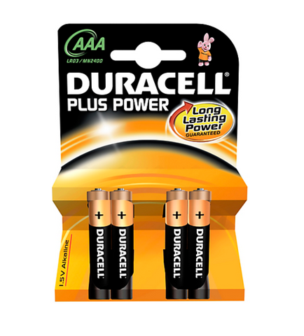Duracell Plus Power AAA 4 stk