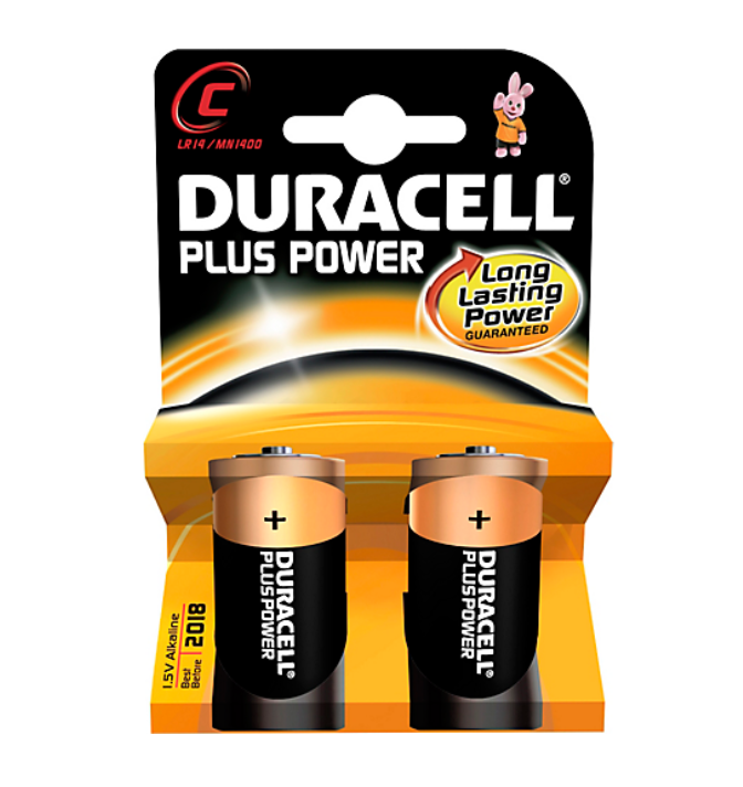 Duracell Plus Power C 2 stk