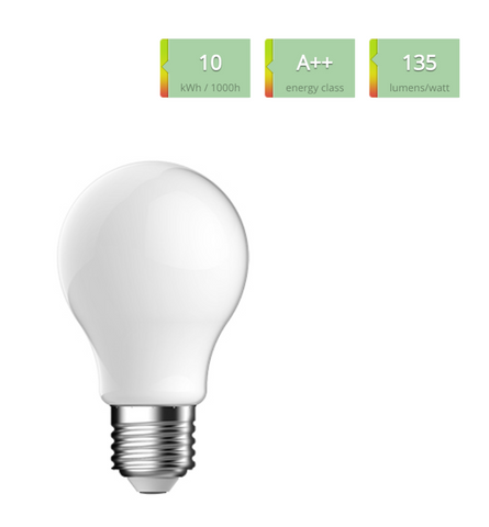 LED pære 10 watt (E27) med frosted glas