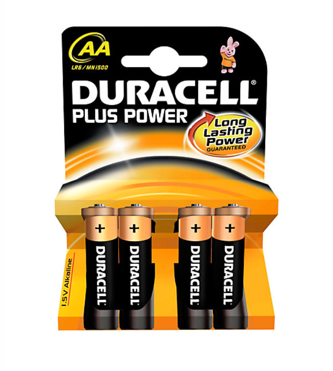 Duracell Plus Power AA 4 stk