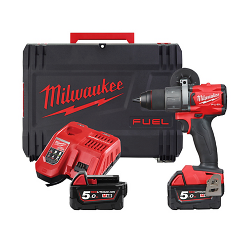 Milwaukee slagboremaskine 18V, 2 batterier, lader, kuffert