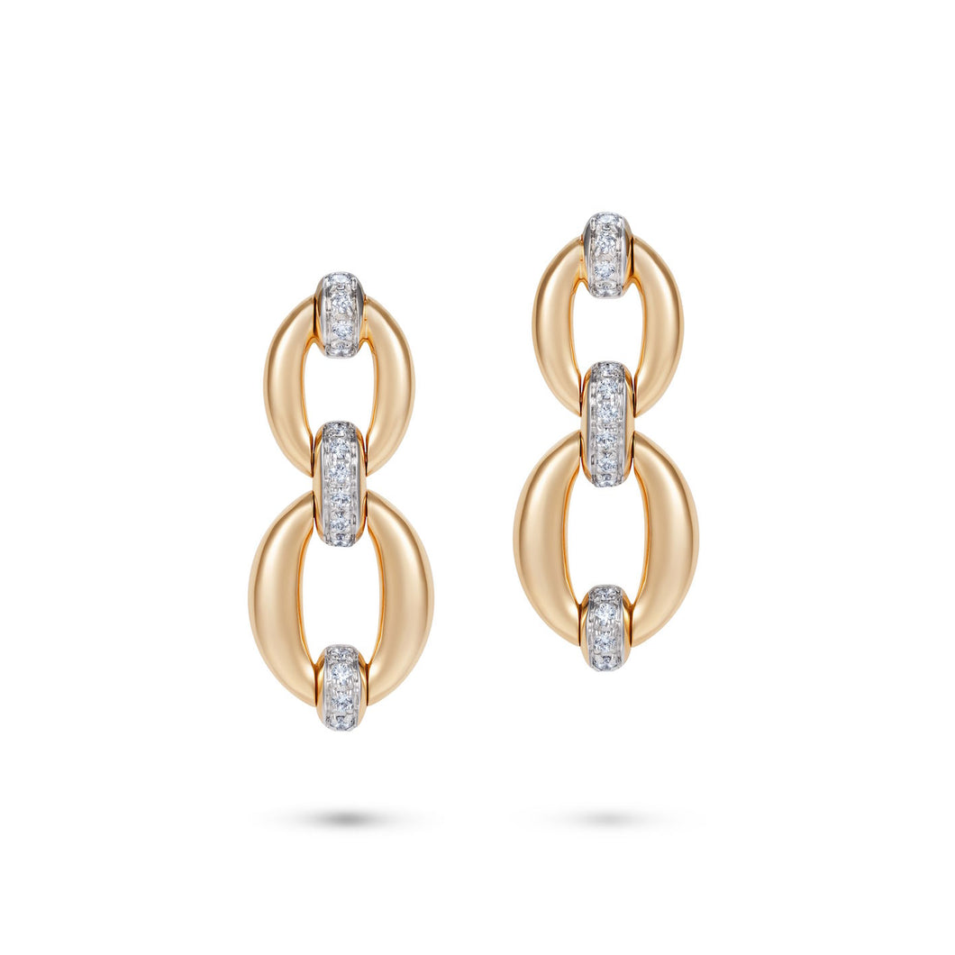 Catena Double Link Earrings