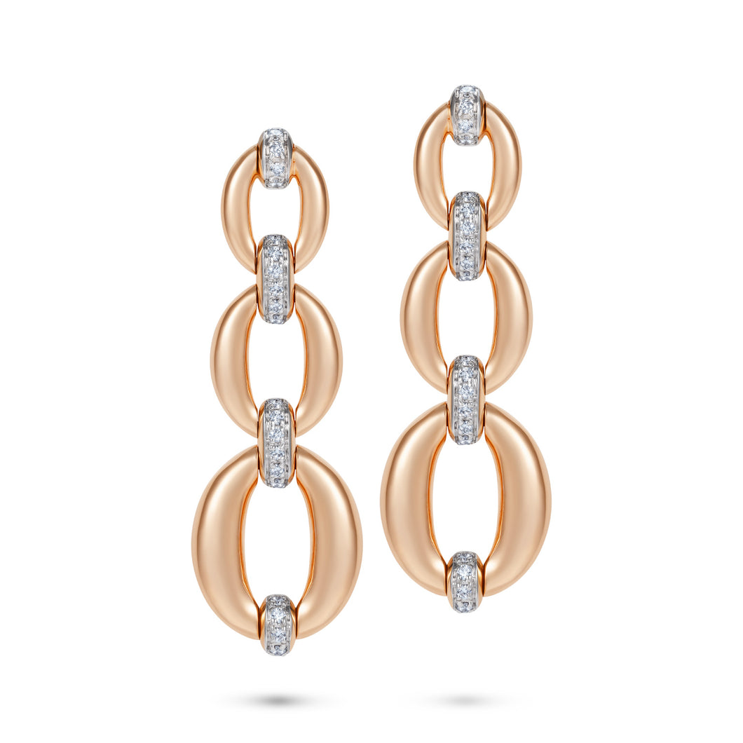 Catena Triple Link Earrings