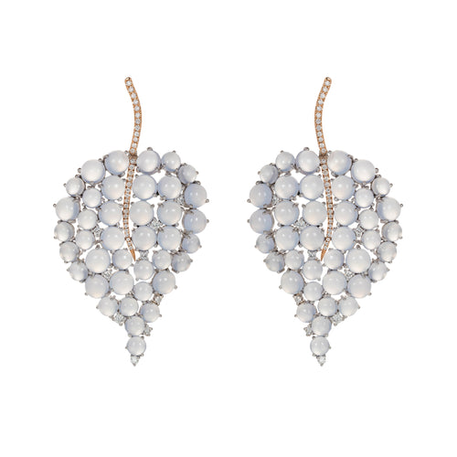 Grandes Feuilles Chalcedony Earrings