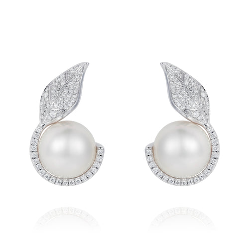 Mille et Une Feuille Pearl Earrings
