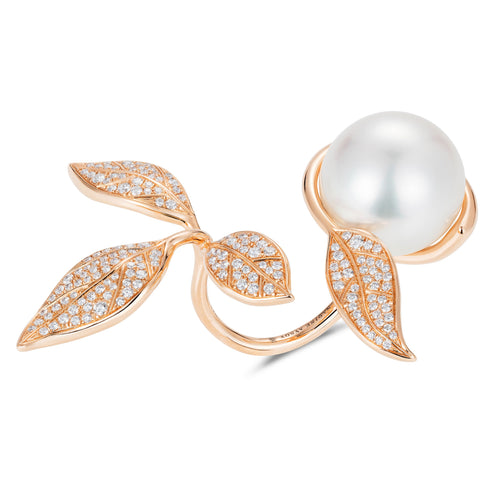 Mille Et Une Feuilles Rose Pearl Ring