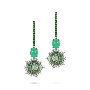 Tsarina Mint Flake Earrings
